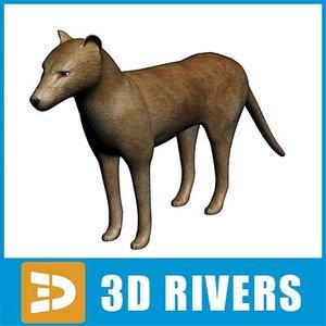 3d thylacine extinct animals