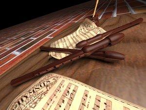 free furulya flute hangszer 3d model