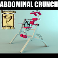 abdominal crunch machine scene 3d max