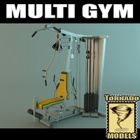 multi gym machine 3d model
