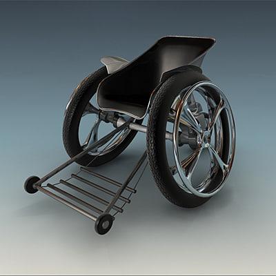 3d sport wheelchair wheel