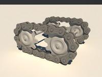 3dsmax wheels chains