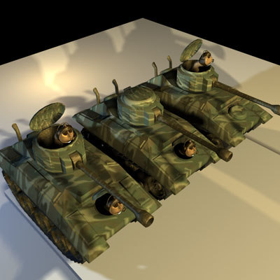 worms tanks 01 animations 3d max