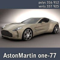 AstonMartin one-77 HIGHPOLY
