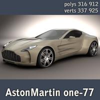 astonmartin one-77 highpoly 3d model