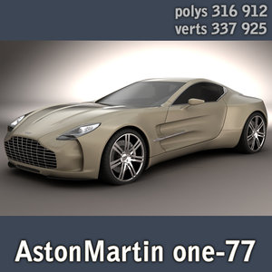 astonmartin one-77 highpoly 3d model