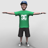 3d model young teenager