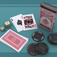 3ds max deck playing cards set