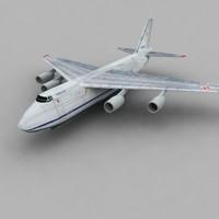 124 antonov an-124 3d model