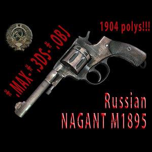 3ds max revolvers 3d-model russian nagant
