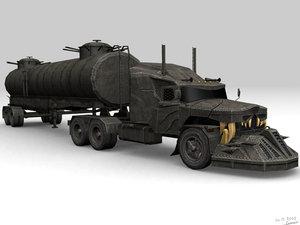 3d model low-poly monster