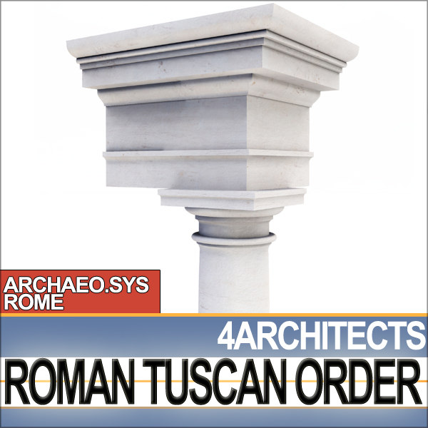 3d column capital entablatures tuscan
