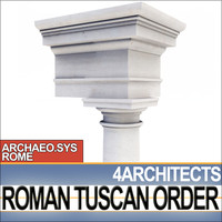 3d column capital entablatures tuscan