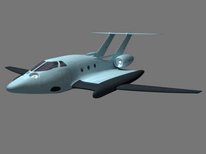 3d model military aircraft ground effects