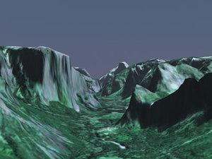 yosemite valley 3d model