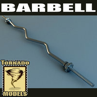 3d model barbell scene