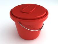 free fishing bucket 3d model
