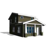 3ds max story california house bungalow