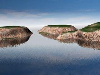 coastal terrain scene 3d max