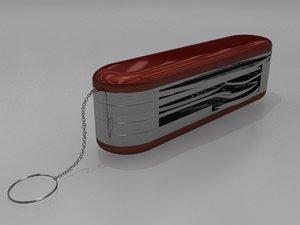 swiss army 3d model