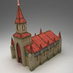 3d fantasy cathedral