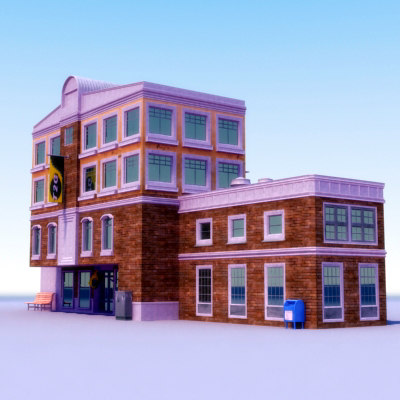 3d model city shop