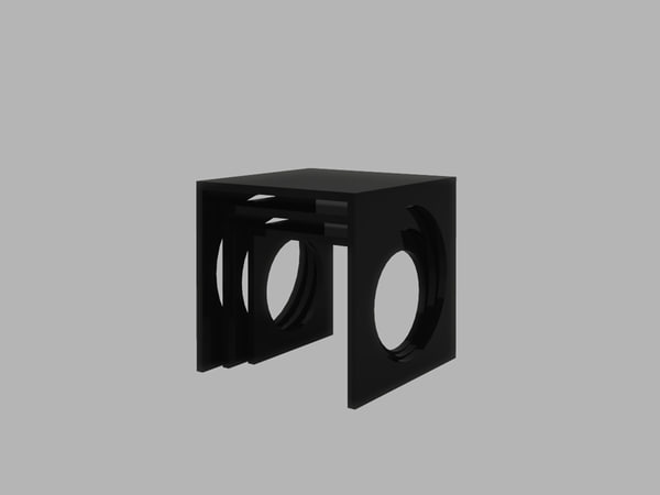 contemporary nest tables 3d max
