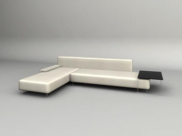 Contemporary Corner Sofa Table Model