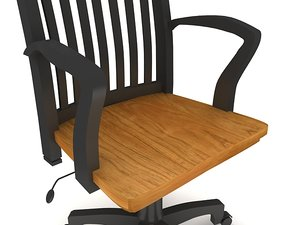 3d model cottage office chair arms