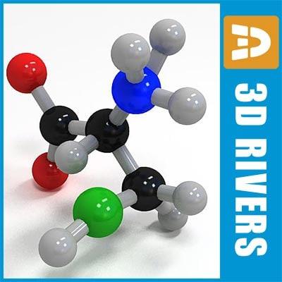cysteine molecule structure 3d model