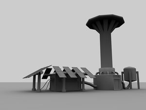 nuclear missile 3d model