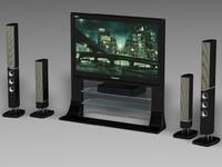 home player tv 3d model