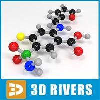 3ds max furosemide molecule structure