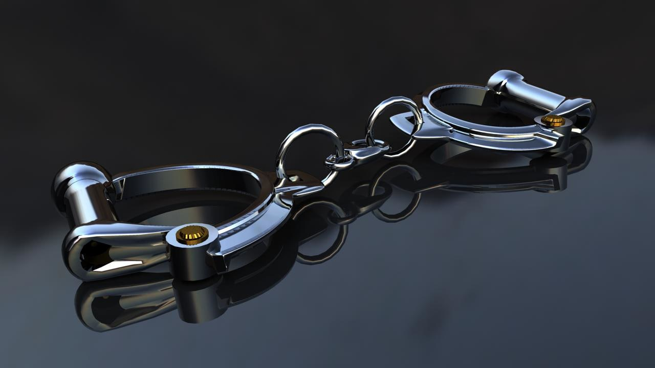 3d model english handcuffs