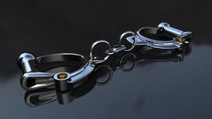 3d model english handcuffs