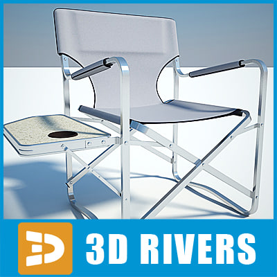 camping chair folding 3d model