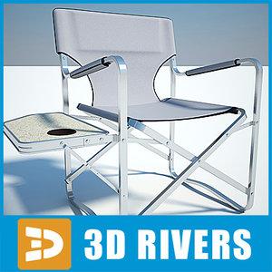 camping chair folding 3d model