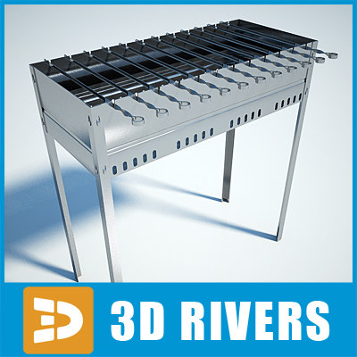 barbecue grill 3d 3ds