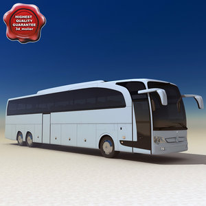 realistic mercedes travego 2007 3d model