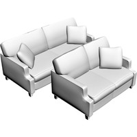 sofa loveseat 3d obj