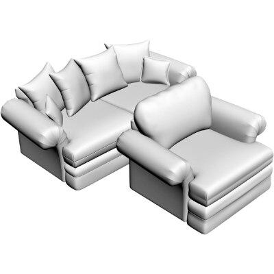 sofa armchair obj