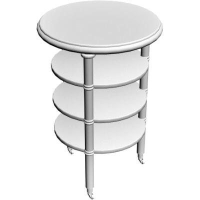 server table 3d obj
