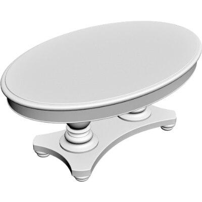 oval table obj