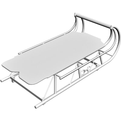 sled coffee table obj