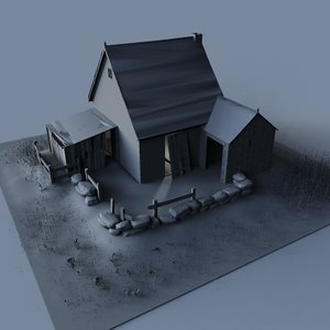 3ds max farm house abandoned