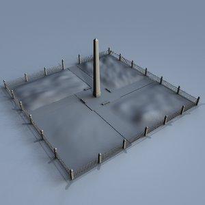 3d memorial park model