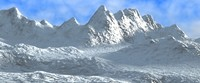 snow mountains 3d model