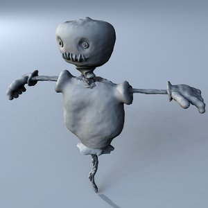 3d model of scarecrow