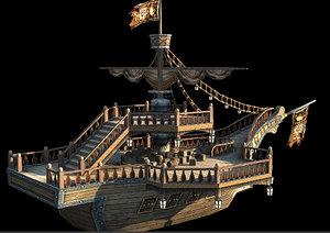 3ds max sea rover pirate boat