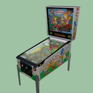 arcade pinball simpsons 3d ma